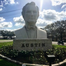Mr Austin has a HUGE head... this is in Beeville, TX. Country seat for Austin County.